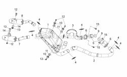 Frame - Exhaust Unit - Aprilia - Screw w/ flange