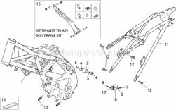 Frame - Frame - Aprilia - Screw w/ flange M8x25