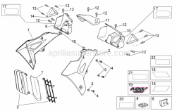 Frame - Front Body II - Aprilia - Radiator pannell front closing