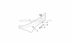 Frame - Saddle - Aprilia - Heat protection
