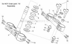 Frame - Steering - Aprilia - INNER TUBES SUPPORT