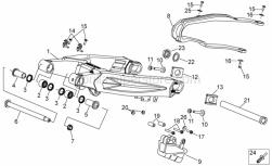 Frame - Swing Arm - Aprilia - DAX flange nut M14x1,5