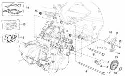 Engine - Engine - Aprilia - Oil seals - set