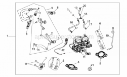 Engine - Throttle Body - Aprilia - Screw kit, clamps, clip