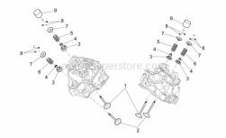 Engine - Valves - Aprilia - Exhaust valve spring