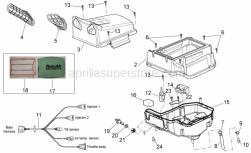 Frame - Air Box - Aprilia - Wiring
