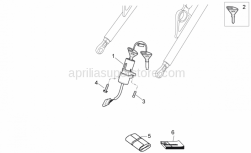Frame - Completing Part - Aprilia - Main switch - steering lock