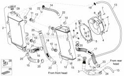 Frame - Cooling System - Aprilia - Water cooler, LH