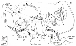 Frame - Cooling System - Aprilia - Cooler-pump pipe 27x19x145