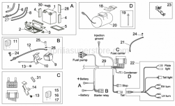 Frame - Electrical System II - Aprilia - Relay battery wiring