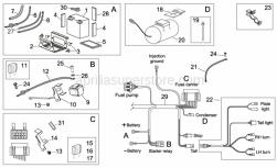Starter motor wiring harness