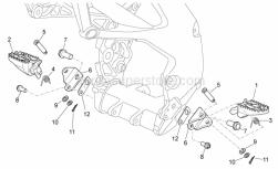 Frame - Foot Rests - Aprilia - LH footrest