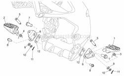 Frame - Foot Rests - Aprilia - Spacer