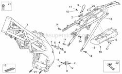 Frame - Frame - Aprilia - Black chain guide roller