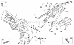 Frame - Frame - Aprilia - Screw w/ flange M10x1,25