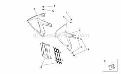 Frame - Front Body II - Aprilia - Screw w/ flange M6x16 inox
