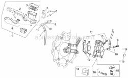 Frame - Front Brake System I - Aprilia - Brake caliper rev. kit