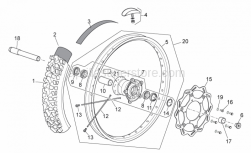 Frame - Front Wheel - Aprilia - Outside spacer L=26,3