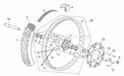 Frame - Front Wheel - Aprilia - Front wheel spindle L=221,5