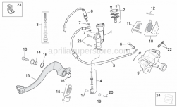 Frame - Rear Brake System - Aprilia - Hex socket screw M8x20