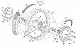 Frame - Rear Wheel - Aprilia - Rear tyre 140/80X18