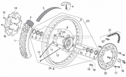 Frame - Rear Wheel - Aprilia - Connecting link 5/8x1/4