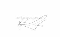 Frame - Saddle - Aprilia - Washer Teflon
