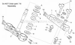 Frame - Steering I - Aprilia - Lower Gasket ring