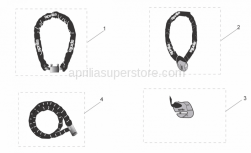 Genuine Aprilia Accessories - Acc. - Mechanics Anti-Theft - Aprilia - Iron Guard 10x150 mm