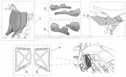 Genuine Aprilia Accessories - Acc -Special Body Parts I - Aprilia - Right Hand Numberplate