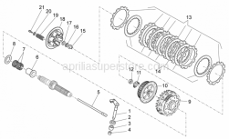 Engine - Clutch I - Aprilia - Steel clutch disc 7 pz.