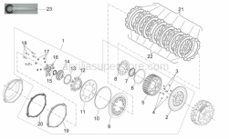 Engine - Clutch II - Aprilia - Plate