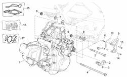 Engine - Engine - Aprilia - Screw w/ flange M6x25