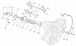 Engine - Gear Box Selector Ii - Aprilia - Spring pillar