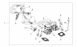 Engine - Throttle Body - Aprilia - Gaskets set