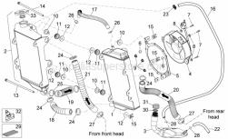Frame - Cooling System - Aprilia - Screw w/ flange M6x122