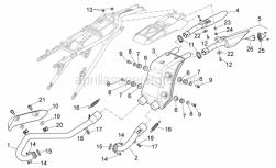 Frame - Exhaust Unit - Aprilia - Rear exhaust pipe