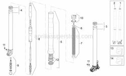 Frame - Fork Ii - Aprilia - LH hub cpl.