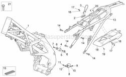 Frame - Frame - Aprilia - Lower chain guide plate