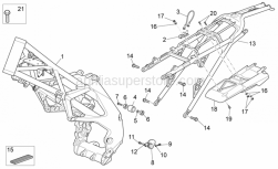 Frame - Frame - Aprilia - Screw w/ flange M8x30 titan