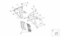 Frame - Front Body Ii - Aprilia - RH air duct