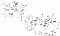 Frame - Front Brake System I - Aprilia - Screw w/ flange M6x25