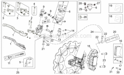 Frame - Front Brake System Ii - Aprilia - Brake light switch