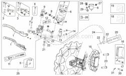 Frame - Front Brake System Ii - Aprilia - Front brake pipe