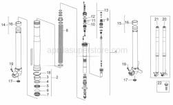 Frame - Front Fork Iii - Aprilia - LEFT STEM