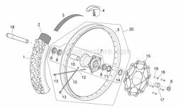 Frame - Front Wheel I - Aprilia - Front tyre 90/90X21