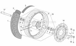 Frame - Front Wheel Ii - Aprilia - Screw w/ flange M6x16 titan
