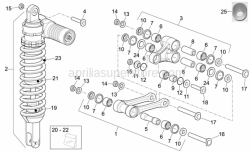 Frame - Rear Shock Absorber - Aprilia - Sleeve gasket set