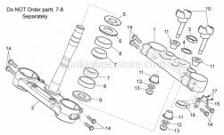 Frame - Steering I - Aprilia - Fairlead plate