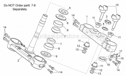 Frame - Steering I - Aprilia - Front. brake tube cable guide